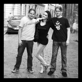 Zleva: Mirek Šolc, Lensha, Milan Janeček, Zdroj: Archiv Lenshy