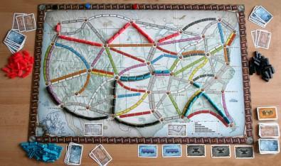 Ticket to Ride - rozehraná hra, Foto: Hana Vítová, Topzine.cz