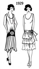 Návrhy šatů pro rok 1929, Zdroj: fashion-era.com