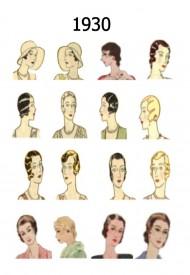 Účesy roku 1930, Zdroj: fashion-era.com