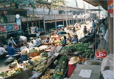 Thajsko - plovoucí trhy, Foto: Michaela Dočkalová, Topzine.cz