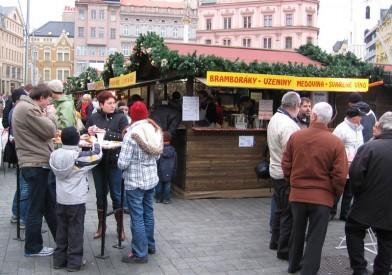 Vánoční trhy na Náměstí Svobody, Foto: Eva Mácová, Topzine.cz