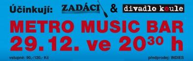 Pozvánka na revue kapely Zadáci a divadla Koule