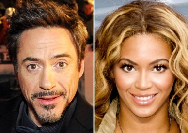 Robert Downey Jr. a Beyoncé Knowlesová