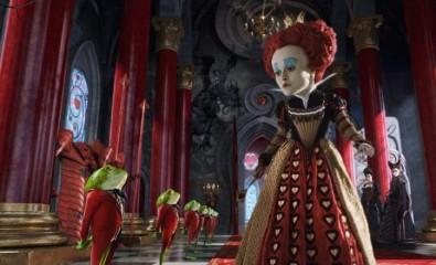 Helena Bonham Carter jako Srdcová královna