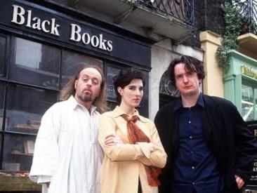 Hrdinové sitcomu Black Books, Zdroj: channel4.com