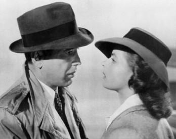 Humphrey Bogart a Ingrid Bermanová, Casablanca.