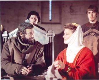 Katherine Hepburnová a Peter O'Toole ve filmu Lev v zimě.