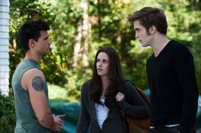 Jacob, Bella a Edward