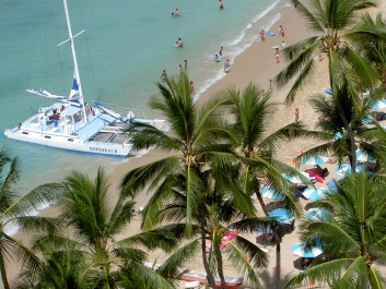 Jedna z pláží na Oahu, Autor: Pavla Brodacká