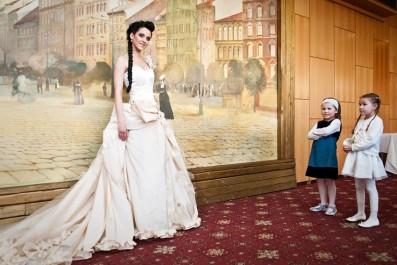 Libuška Vojtková a budoucí nevěsty, foto: Vojta Herout
