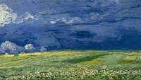 Vincent van Gogh, obraz Obilné pole a zamračená obloha