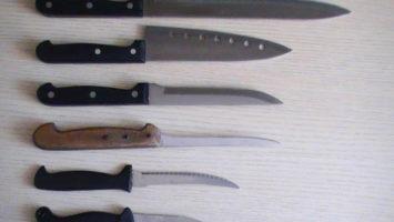 FOTO: Různé druhy nožů