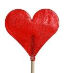 Lízátko ve tvaru srdce