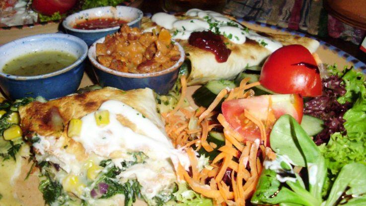 FOTO: Quesadilla zapečená se špenátem a sýrem