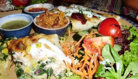 FOTO: Quesadilla zapečená se sýrem a špenátem