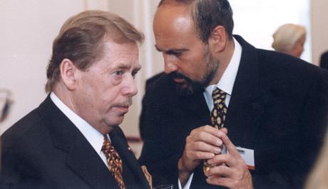 FOTO: Václav Havel, Tomáš Halík