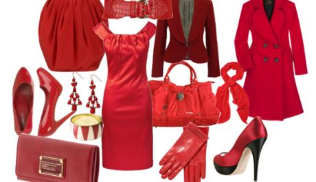 FOTO: Různé kusy oblečení v červené barvě