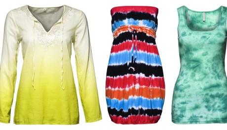 FOTO: Dámské batikované oblečení