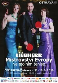 FOTO: Stolní tenis ME 2010 Ostrava oficiální plakát