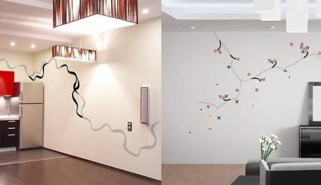 FOTO: samolepicí dekorace na zeď