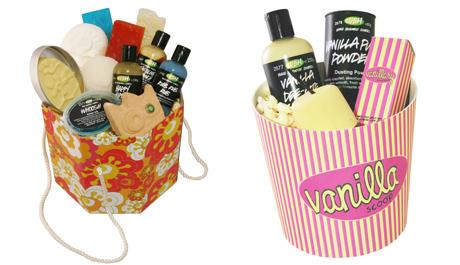 FOTO: dárkové balíčky kosmetiky Lush