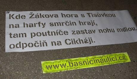 FOTO: Projekt Básníci na ulici Brno 2010