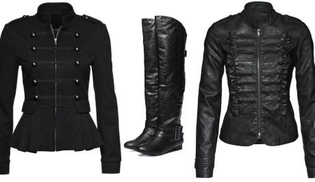 FOTO: Kabátky ve vojenském stylu a vysoké boty