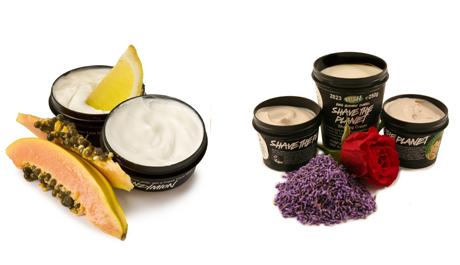 FOTO: krémové produkty Lush v kelímcích