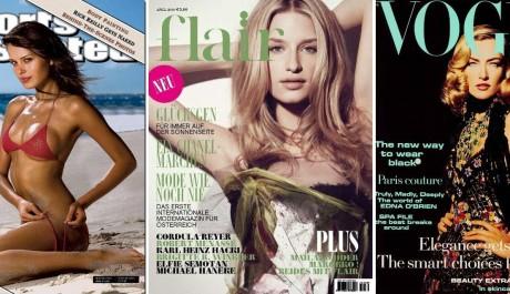 FOTO: Modelky na titulkách