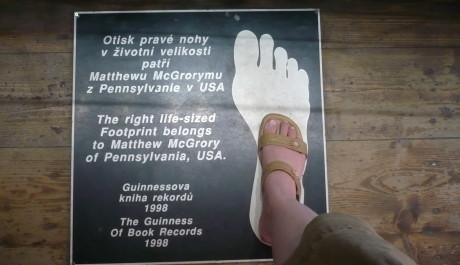 Otisk největší nohy na světě