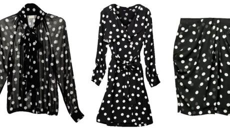FOTO: Černo-bíle puntíkované oblečení