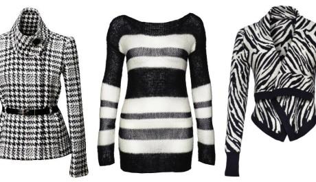 FOTO: Černo-bílé oblečení