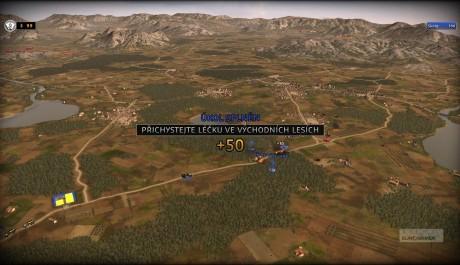 RUSE gamescreen pohled z ptačí perspektivy
