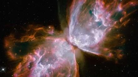 """Impozantní snímek """"motýla"""" v planetární mlhovině"""