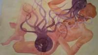 FOTO: Jeden z akvarelů výstavy Tomáše Císařovského Žlutá skvrna