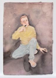 FOTO: Jeden z akvarelů Tomáše Císařovského na výstavě Žlutá skvrna