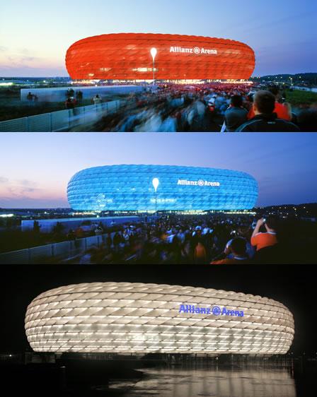 FOTO: Allianz Arena 3 barvy