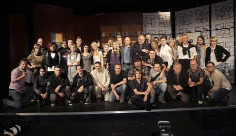 Herci, zpěváci, tanečníci a tvůrci muzikálu Ať žije rokenrol!