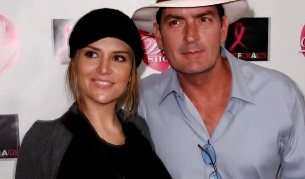 Charlie Sheen a jeho manželka Brooke Mueller