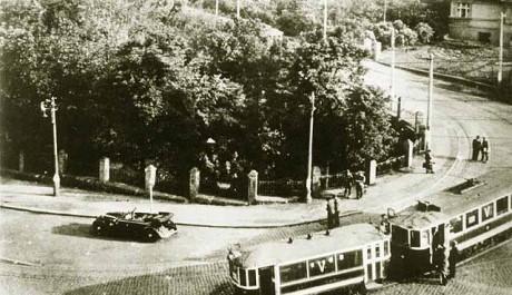 Místo, kde byl spáchán atentát na Heydricha