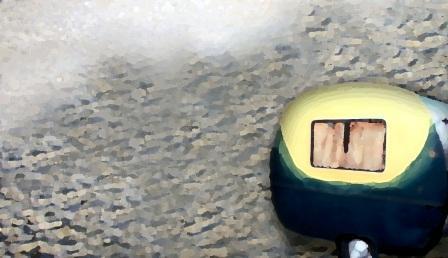 KOLÁŽ: Karavan v poušti