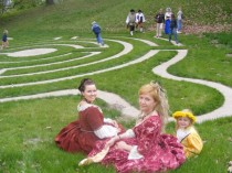 FOTO: labyrint na zámku Loučeň