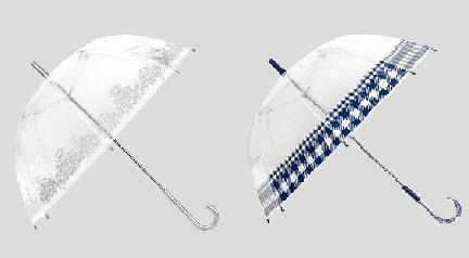 FOTO: Průhledné deštníky