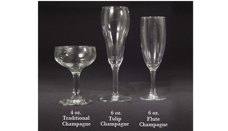 FOTO: Tři druhy skleniček na sekt
