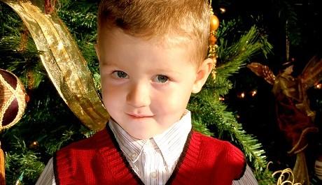 FOTO: Dítě o Vánocích