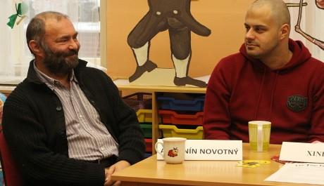 Antonín Novotný a Xindl-X na tiskové konferenci