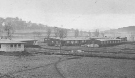 Náhled na vnější koncentrační tábor