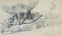Michelangelova kresba Trest Tituv