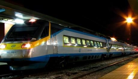 FOTO: Noční vlak